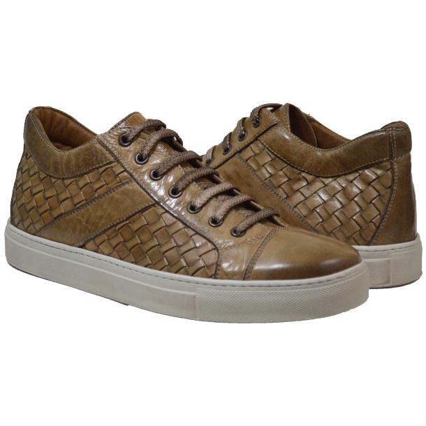 Tyler Dip Dyed Rope Woven Sneakers Tan full-size #1