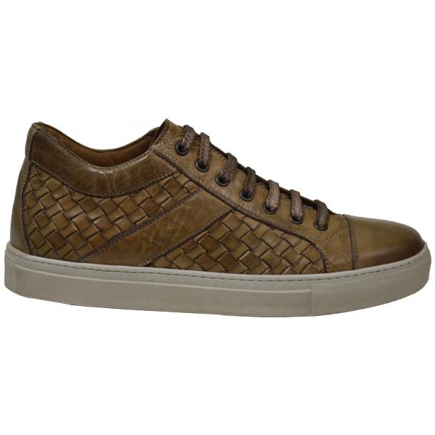 Tyler Dip Dyed Rope Woven Sneakers Tan full-size #3