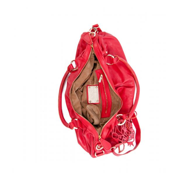 Marina Red Handle and Shoulder Bag full-size #4