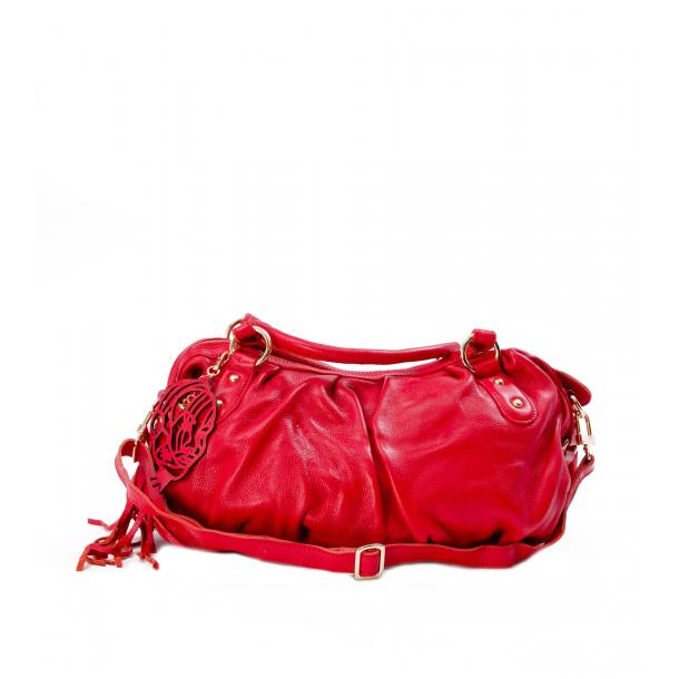 Marina Red Handle and Shoulder Bag full-size #1