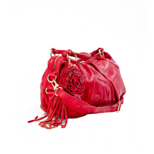 Marina Red Handle and Shoulder Bag full-size #2