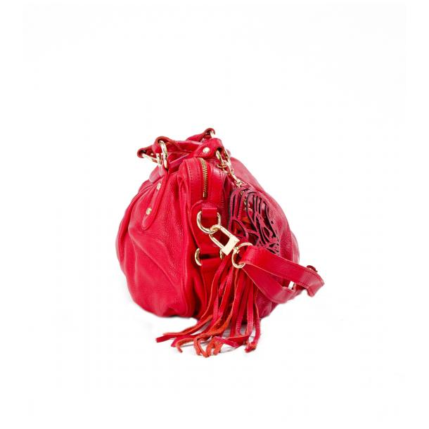 Marina Red Handle and Shoulder Bag full-size #3