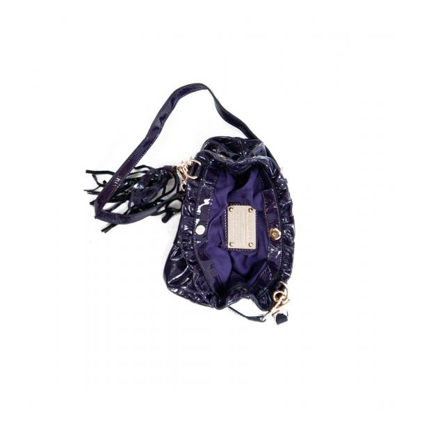 Golden Gate Park Purple Patent Leather Handle and Shoulder Bag full-size #4
