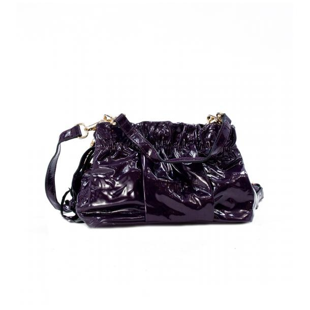 Golden Gate Park Purple Patent Leather Handle and Shoulder Bag full-size #1