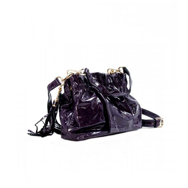 Golden Gate Park Purple Patent Leather Handle and Shoulder Bag full-size #2