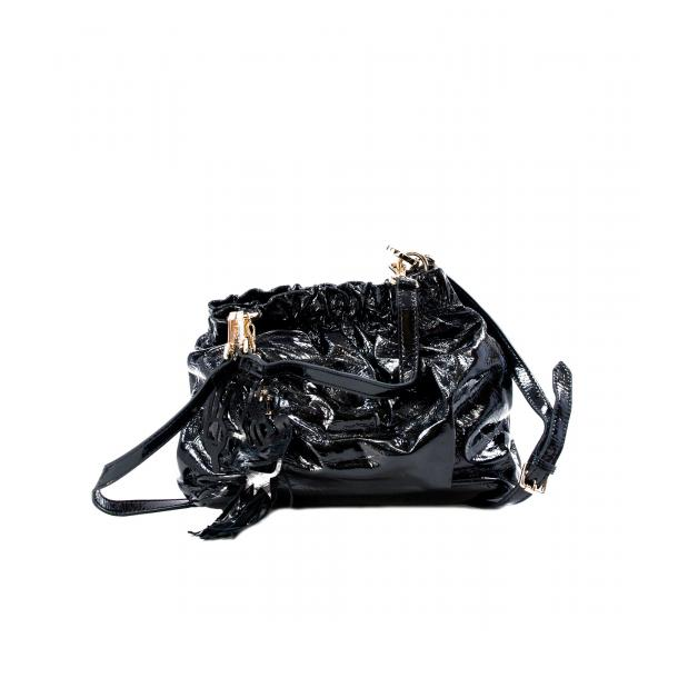 In The Mission Black Patent Shoulder Bag full-size #1