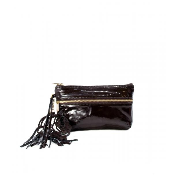 SOMA Patent Brown Clutch full-size #1