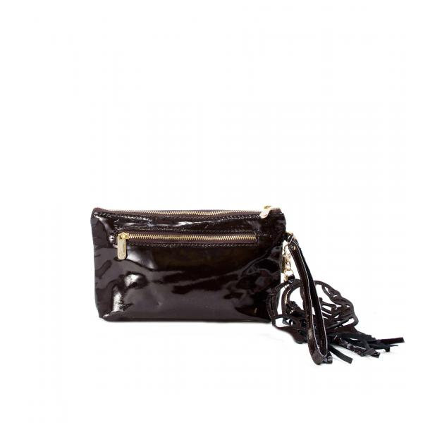 SOMA Patent Brown Clutch full-size #2