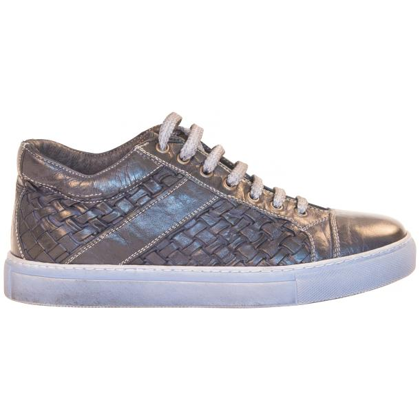 Carlo Dip Dyed Blue Woven Sneakers  full-size #4