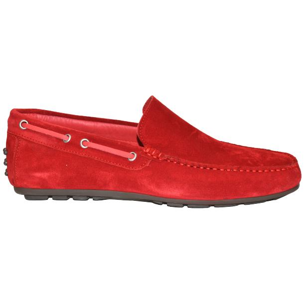 Carlito Red Suede Driver Loafers  full-size #3