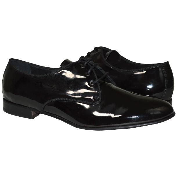 Dakota Dip Dyed Black Leather Oxford Lace Up Shoes full-size #1