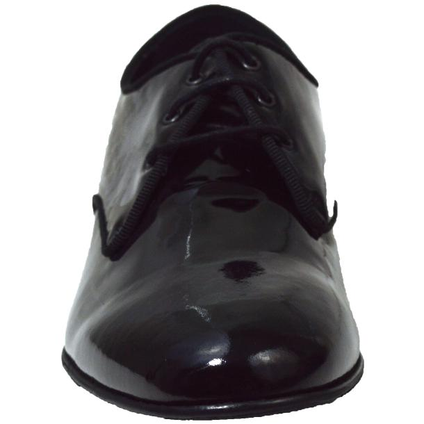 Dakota Dip Dyed Black Leather Oxford Lace Up Shoes full-size #2