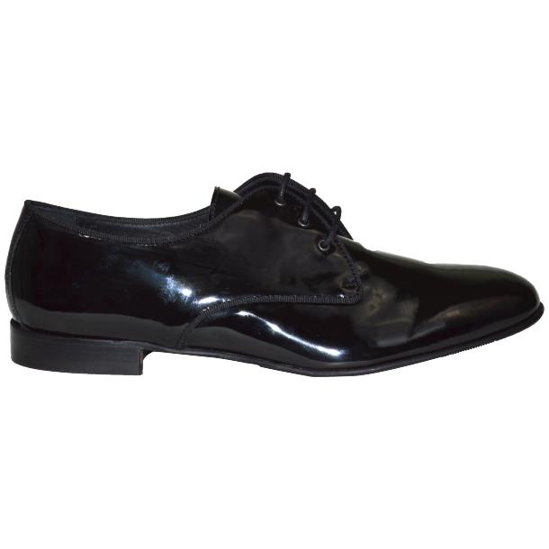 Dakota Dip Dyed Black Leather Oxford Lace Up Shoes full-size #3