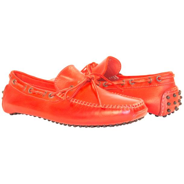 Adam Dip Dyed Fire Red Nappa Leather Drivers full-size #1