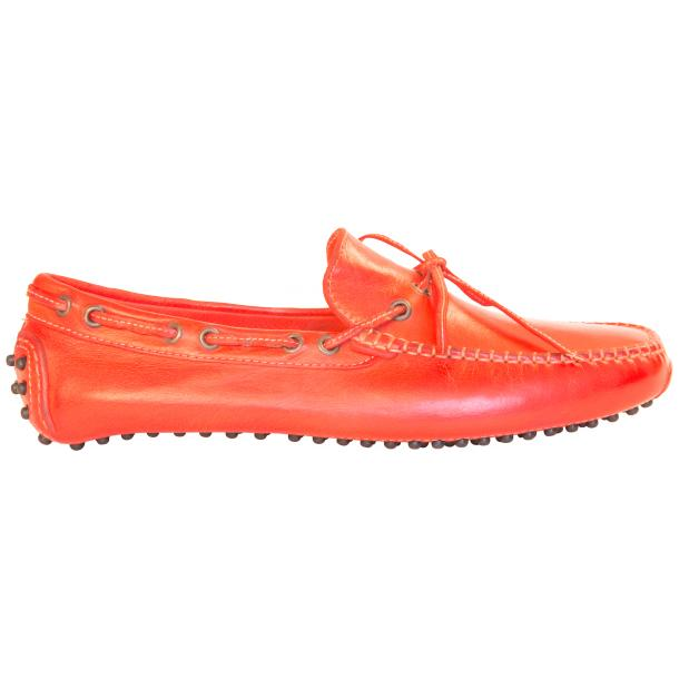 Adam Dip Dyed Fire Red Nappa Leather Drivers full-size #4