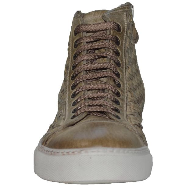 Gavin Dip Dyed Rope Beige Hand Woven High Top Sneakers full-size #2