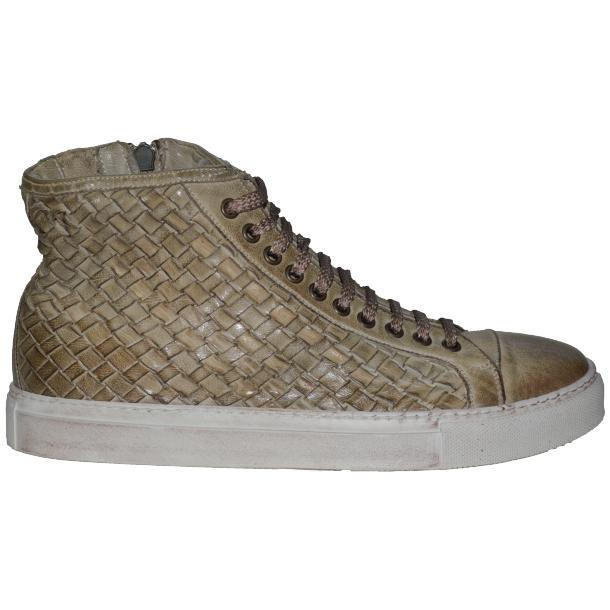Gavin Dip Dyed Rope Beige Hand Woven High Top Sneakers full-size #3