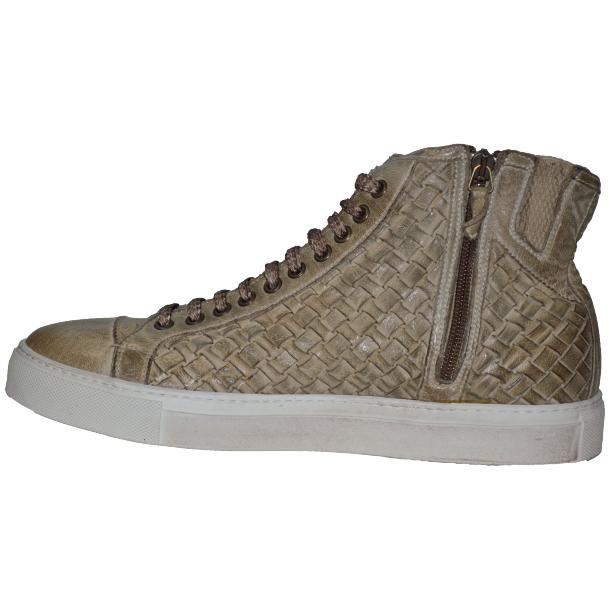 Gavin Dip Dyed Rope Beige Hand Woven High Top Sneakers full-size #5