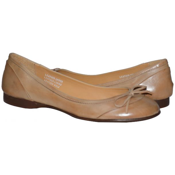 Amelia Dip Dyed Cream Nappa Leather Ballerina Flat full-size #1