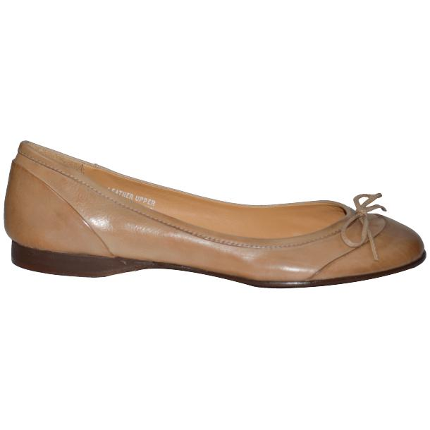 Amelia Dip Dyed Cream Nappa Leather Ballerina Flat full-size #3