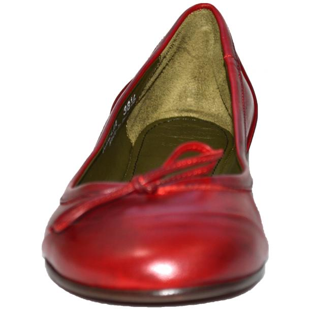 Amelia Dip Dyed Red Nappa Leather Ballerina Flat full-size #2