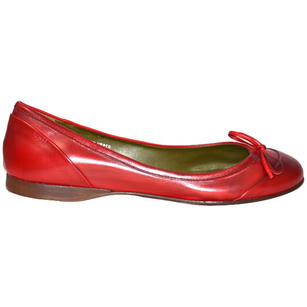 Amelia Dip Dyed Red Nappa Leather Ballerina Flat full-size #3