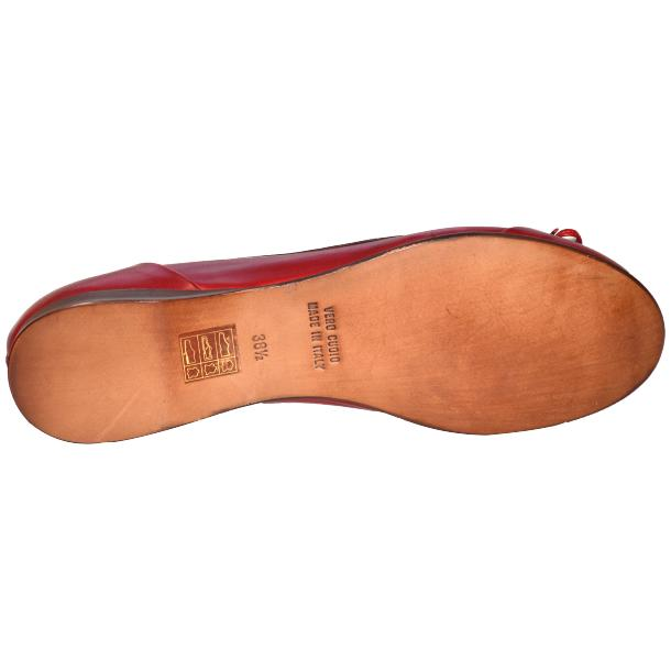 Amelia Dip Dyed Red Nappa Leather Ballerina Flat full-size #5