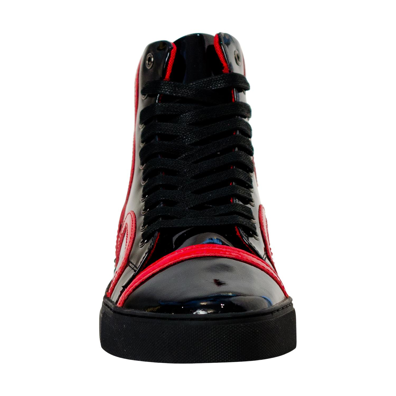 Bogart Black And Red Paolo Shoes