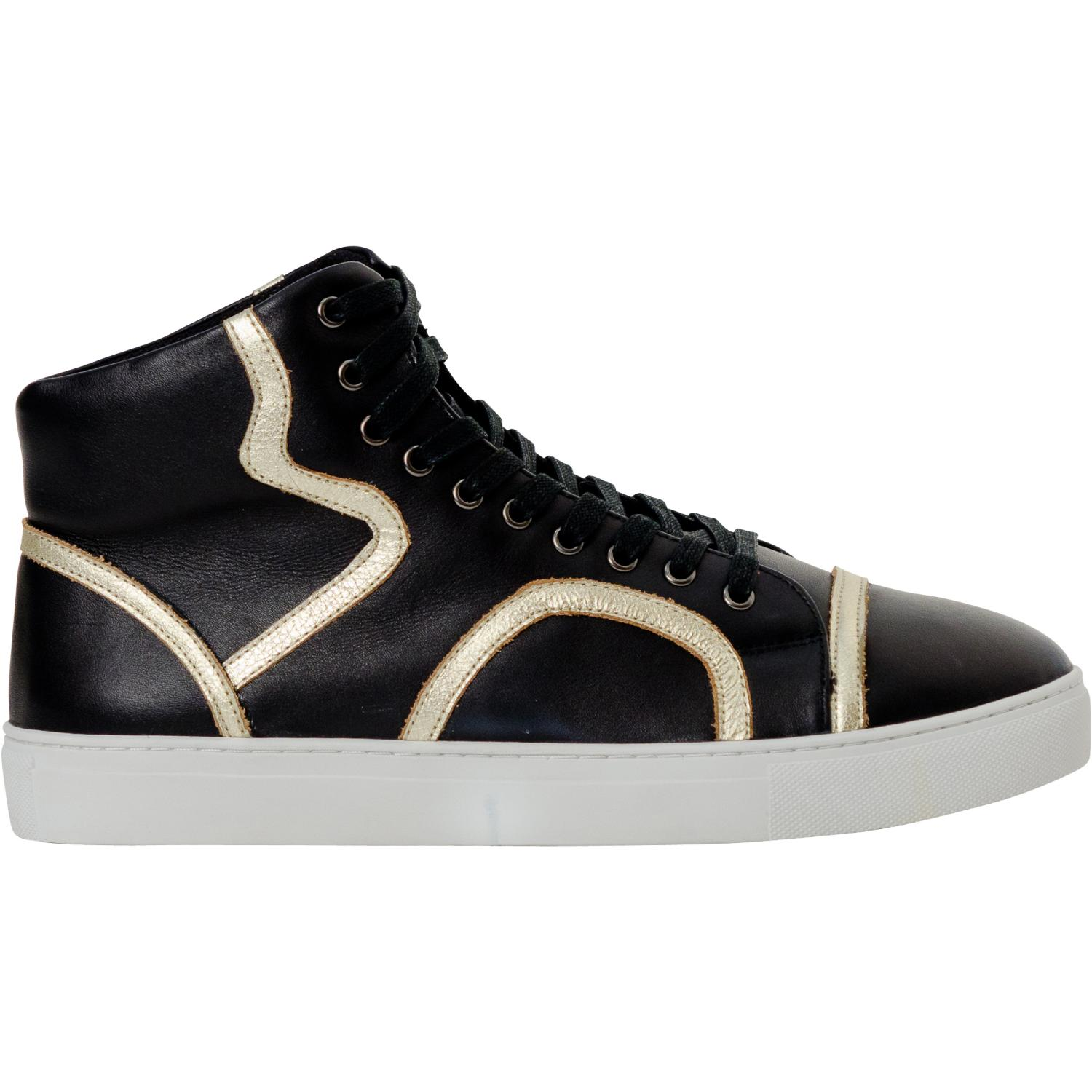 Bogart Black And Gold Paolo Shoes